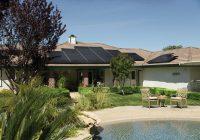 dom z panelami słonecznymi